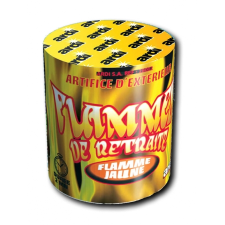 Flammes de retraite jaune