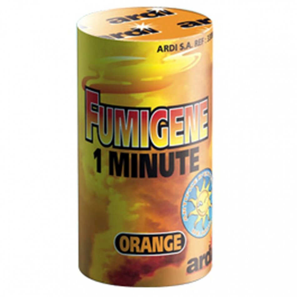 Fumigène orange 1 min