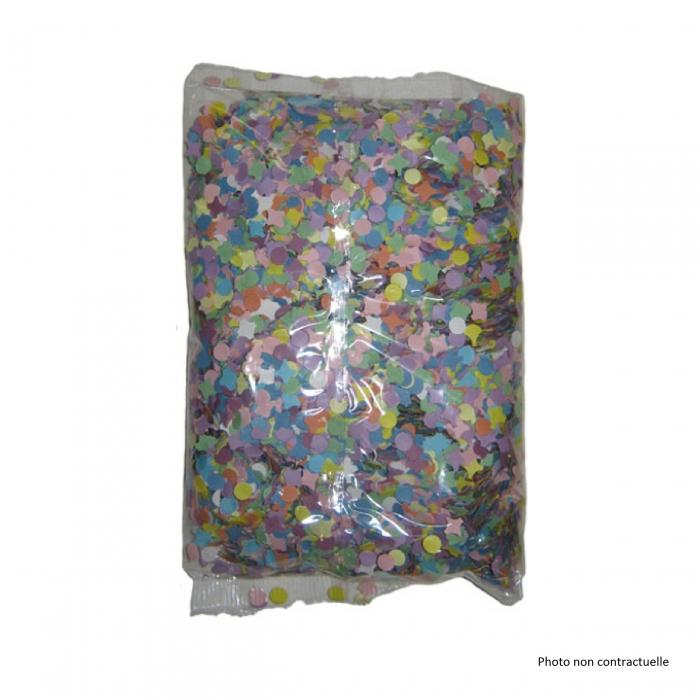 Sachet de 100 gr de confettis multicolores